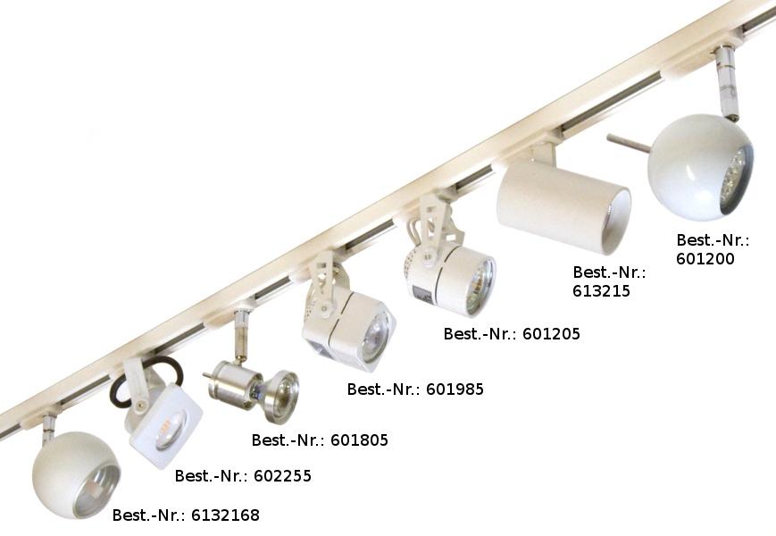 Strahler für 1-Phasen-Stromschiene